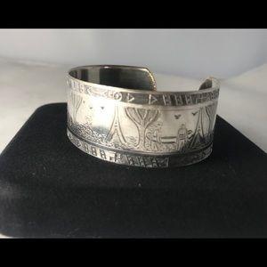 Beautiful Native Indian Cuff Sterling Silver